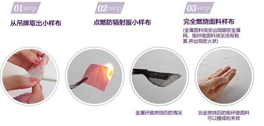 布料燃烧法