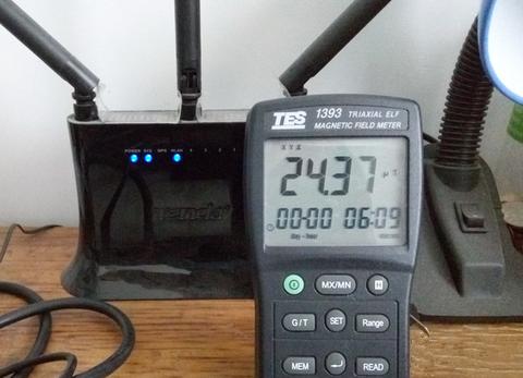 无线路由器辐射值